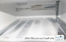 روش فوری از بین بردن برفک یخچال