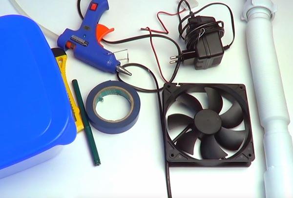 در ابتدا باید مواد و قطعات مورد نیاز برای ساخت دستگاه را تهیه کنید.