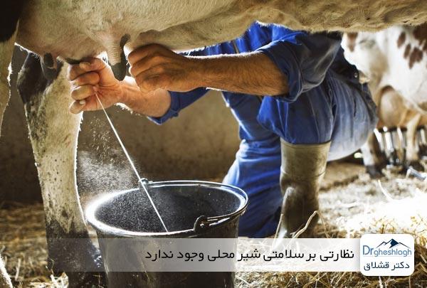 نظارتی بر سلامتی شیر محلی وجود ندارد - دکتر قشلاق